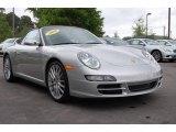 2008 Arctic Silver Metallic Porsche 911 Carrera S Cabriolet #11897745