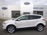 2013 White Platinum Metallic Tri-Coat Ford Escape Titanium 2.0L EcoBoost 4WD #119604502