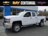 2017 Summit White Chevrolet Silverado 2500HD Work Truck Double Cab 4x4 #119603986