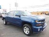 2017 Deep Ocean Blue Metallic Chevrolet Silverado 1500 LT Crew Cab 4x4 #119603683