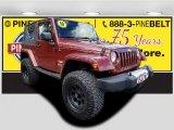 2010 Red Rock Crystal Pearl Jeep Wrangler Sahara 4x4 #119603916