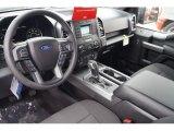 2017 Ford F150 XLT SuperCrew Black Interior