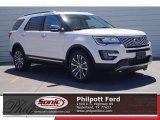 2017 White Platinum Ford Explorer Platinum 4WD #119719690