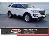 2017 White Platinum Ford Explorer XLT #119719679