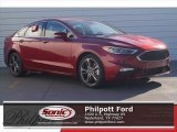 2017 Ruby Red Ford Fusion Sport AWD #119719754