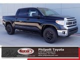 2017 Midnight Black Metallic Toyota Tundra SR5 TSS Off-Road CrewMax 4x4 #119719821