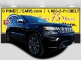 2017 Diamond Black Crystal Pearl Jeep Grand Cherokee Overland 4x4 #119719439