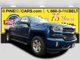2017 Deep Ocean Blue Metallic Chevrolet Silverado 1500 LTZ Crew Cab 4x4 #119753398
