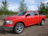 2017 Flame Red Ram 1500 Big Horn Crew Cab 4x4 #119771625