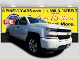 2017 Summit White Chevrolet Silverado 1500 Custom Double Cab 4x4 #119792443
