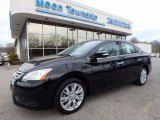 2014 Super Black Nissan Sentra S #119792704