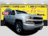 2017 Silver Ice Metallic Chevrolet Silverado 1500 Custom Double Cab 4x4 #119825112
