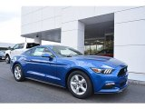 2017 Lightning Blue Ford Mustang V6 Coupe #119847226