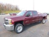 2017 Butte Red Metallic Chevrolet Silverado 2500HD Work Truck Crew Cab 4x4 #119883752