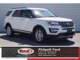 2017 Oxford White Ford Explorer XLT #119909420