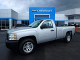 2012 Silver Ice Metallic Chevrolet Silverado 1500 Work Truck Regular Cab 4x4 #119989186