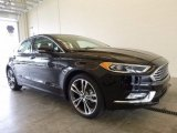 2017 Shadow Black Ford Fusion Titanium AWD #120018165