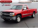 2002 Victory Red Chevrolet Silverado 1500 LS Regular Cab 4x4 #120018390