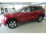 2014 Deep Cherry Red Crystal Pearl Jeep Grand Cherokee Overland 4x4 #120044718