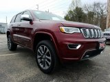 2017 Velvet Red Pearl Jeep Grand Cherokee Overland 4x4 #120065202