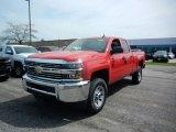 2017 Red Hot Chevrolet Silverado 2500HD Work Truck Double Cab 4x4 #120106900