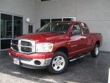 2007 Inferno Red Crystal Pearl Dodge Ram 1500 SLT Quad Cab #11970455