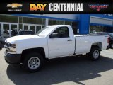 2017 Summit White Chevrolet Silverado 1500 WT Regular Cab 4x4 #120125601