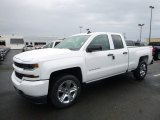 2017 Summit White Chevrolet Silverado 1500 Custom Double Cab 4x4 #120125710