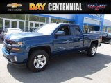 2017 Deep Ocean Blue Metallic Chevrolet Silverado 1500 LT Double Cab 4x4 #120125600