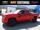 2017 Red Hot Chevrolet Silverado 1500 Custom Double Cab 4x4 #120125599