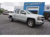 2017 Silver Ice Metallic Chevrolet Silverado 1500 LT Double Cab #120155407