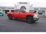 2012 Victory Red Chevrolet Silverado 1500 LS Crew Cab 4x4 #120155339