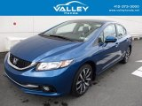 2015 Dyno Blue Pearl Honda Civic EX-L Sedan #120155179