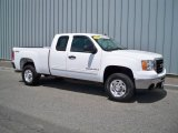 2007 Summit White GMC Sierra 2500HD Extended Cab 4x4 #11975833