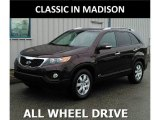 2012 Dark Cherry Kia Sorento LX AWD #120201599