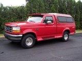1995 Ultra Red Ford F150 XLT Regular Cab 4x4 #11984198