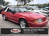 1991 Ford Mustang Bright Red