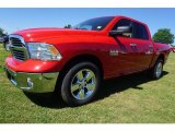 2017 Flame Red Ram 1500 Big Horn Crew Cab #120240656