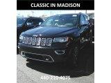 2017 Diamond Black Crystal Pearl Jeep Grand Cherokee Overland 4x4 #120240817