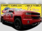 2017 Red Hot Chevrolet Silverado 1500 LT Double Cab 4x4 #120240524