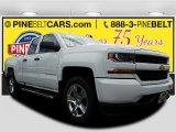 2017 Summit White Chevrolet Silverado 1500 Custom Double Cab 4x4 #120240522