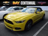 2016 Triple Yellow Tricoat Ford Mustang EcoBoost Premium Convertible #120240567