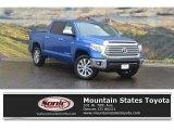 2017 Blazing Blue Pearl Toyota Tundra Limited CrewMax 4x4 #120264213