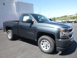 2017 Graphite Metallic Chevrolet Silverado 1500 WT Regular Cab 4x4 #120285913