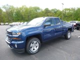 2017 Deep Ocean Blue Metallic Chevrolet Silverado 1500 LT Double Cab 4x4 #120324504