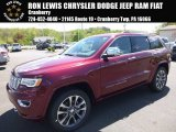 2017 Velvet Red Pearl Jeep Grand Cherokee Overland 4x4 #120324420