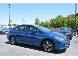 2015 Dyno Blue Pearl Honda Civic EX Sedan #120324475