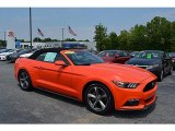 2016 Competition Orange Ford Mustang V6 Convertible #120350480