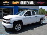 2017 Summit White Chevrolet Silverado 1500 Custom Double Cab 4x4 #120377399