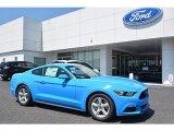 2017 Grabber Blue Ford Mustang V6 Coupe #120377480
